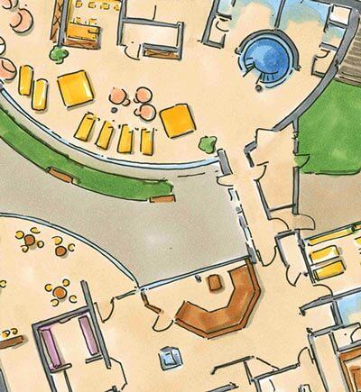 Skizze für Badria / Wasserburg am Inn