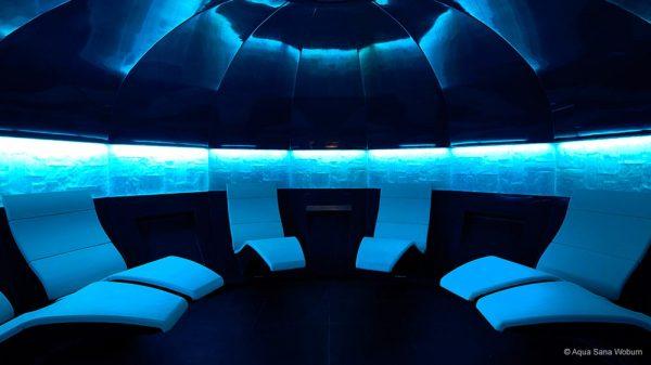 Produktdesign Lounger für Kabinen in Spa und Wellness wie Dampfbad, Aquameditation und Tepidarium. Umsetzung im Dampfbad Center Parcs Woburn Forest